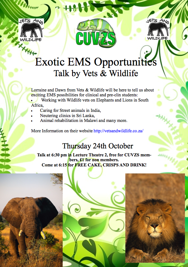 Vets and Wildlife Talk